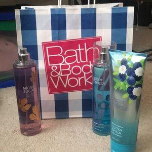 Three 8oz Bath and Body Works products